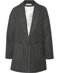 Elizabeth And James Carson Pinstriped Woolblend Coat - Lyst