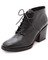 Rachel Comey Ibex Lace Up Booties Black Floater - Lyst