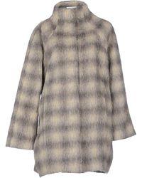 Patrizia Pepe Coat gray - Lyst