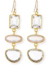 Dina Mackney - Triple-quartz Drop Earrings - Lyst