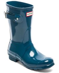 Hunter Original Short Gloss Rain Boot - Lyst