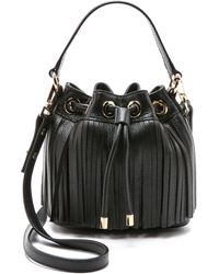 MILLY - Essex Fringe Small Bucket Bag - French Blue - Lyst
