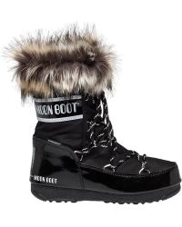 Tecnica Moon Boots | Moon Boot We Monaco Low After Ski Boot Black | Lyst