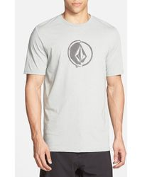 Volcom 'Stacking' Surf Crewneck T-Shirt gray - Lyst
