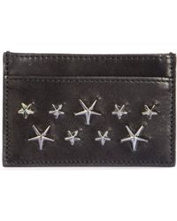 Jimmy Choo Stars Leather Card Case - Lyst