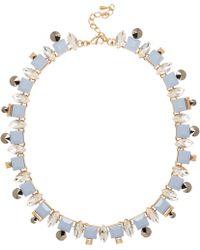 River Island Blue Pretty Crystal Necklace - Lyst