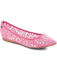 ModCloth Befitting Beauty Flat in Pink - Lyst
