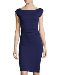 Diane von Furstenberg Boat-Neck Cap-Sleeve Dress - Lyst