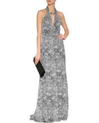 Derek Lam Printed Silk Halter Gown - Lyst