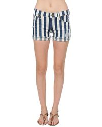 James Jeans Shorty Slouchy Fit Boy Shorts - Lyst