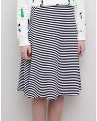 Pull&Bear Striped Midi Skirt - Lyst
