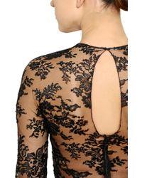 Zuhair Murad | Crepe & Lace Bodysuit | Lyst