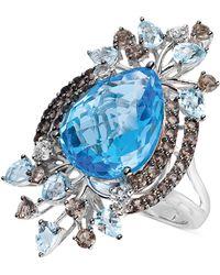 Le Vian Multi-Stone Statement Ring In 14K White Gold (11-1/2 T. T.W.) - Lyst