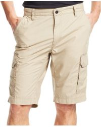 Kenneth Cole - New York Solid Cargo Shorts - Lyst