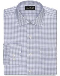 Lauren by Ralph Lauren Slimfit Lavender Multicheck Dress Shirt - Lyst