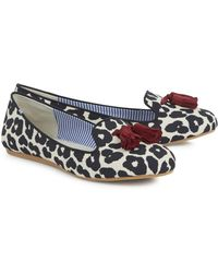 Charles Philip - Black Off White and Burgundy Tasselled Leopard Print Loafers - Lyst