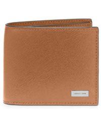 Michael Kors Brown Leather Billfold - Lyst