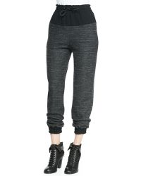 Rag & Bone Owen Solidtop Melange Sweatpants - Lyst