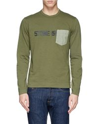 Stone Island Contrast Chest Pocket T-Shirt - Lyst
