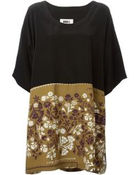 MM6 by Maison Martin Margiela Floral Print Shift Dress - Lyst