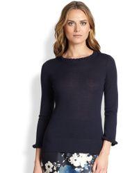 Kate Spade Blue Bekki Sweater - Lyst
