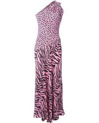 Moschino Cheap & Chic Leopard Print Evening Dress - Lyst