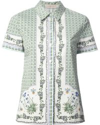 Tory Burch Geometric and Floral Print Shirt - Lyst