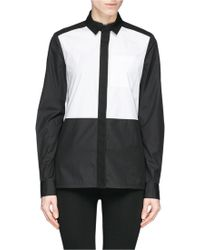Proenza Schouler Colourblock Zip Poplin Shirt - Lyst