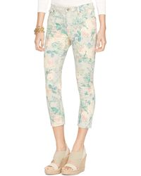 Ralph Lauren Floral Cropped Straight Pant - Lyst