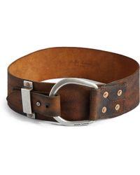 Ralph Lauren Blue Label Contoured Leather Belt - Lyst