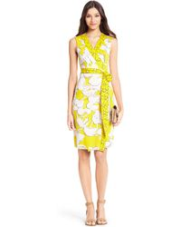 Diane von Furstenberg New Yahzi Short Silk Jersey Wrap Dress - Lyst