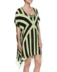 Seafolly The Factory Printed Kaftan Coverup - Lyst