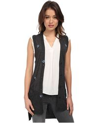 Vera Wang Sleeveless Vest W/ Scattered Swarovski Embellishment - Lyst