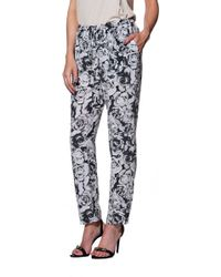 Haute Hippie Slim Shady Rose Printed Pants - Lyst