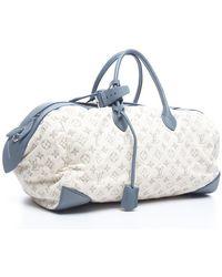 Louis Vuitton Limited Edition Denim Speedy Round Bag - Lyst