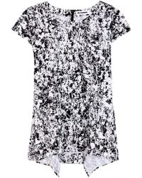 Jil Sander Rest Printed Cotton Top - Lyst