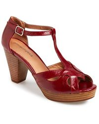 Jeffrey Campbell Women'S 'Camelot' Leather T-Strap Platform Sandal - Lyst