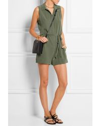 Equipment - Earl Washed-silk Playsuit - Lyst