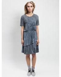 Blankblank Deep Waters Dress With Flounce - Lyst