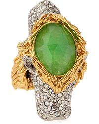 Alexis Bittar 2headed Pave Crystal Lion Ring - Lyst