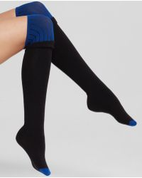 DKNY Colorblock Knit Over-The-Knee Socks - Lyst