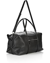 Alexander Wang - Duffle In Pebbled Black With Rhodium - Lyst