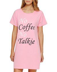 Sleeptease - No Coffee Sleepshirt - Lyst