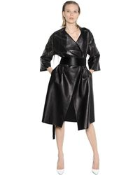 Lanvin Oversized Leather Coat With Chain Fringe - Lyst
