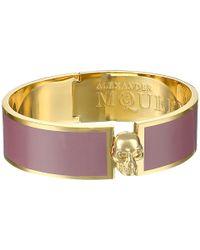 Alexander McQueen Pierced Skull Bangle - Lyst