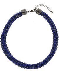 Topshop Rhinestone Fabric Collar - Lyst