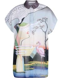 Mary Katrantzou Short Sleeve Shirt - Lyst