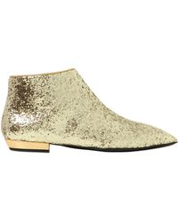 Giuseppe Zanotti 20Mm Glittered Leather Ankle Boots - Lyst