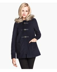 H&M Duffle Coat - Lyst