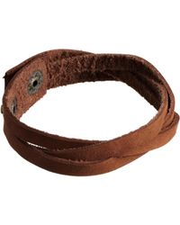 Asos Brown Leather Bracelet - Lyst